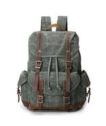 Sale, Vintage Waxed Canvas Backpack, Waterproof Backpack, Men's Canvas w... - $100.00