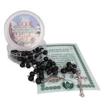 Scented Catholic Black Wooden Rosary Prayer Beaded Jerusalem Cross Neckl... - $7.92
