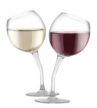 Incredible! Tilted Wine Glass Set by Fine Life , 13 oz each Brand New! - £15.48 GBP
