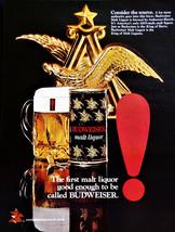 Vintage 1971 Budweiser malt liquor retro advertisement print ad art - $8.90