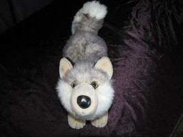 Wishpets # 64013 2002 Conway Siberian Husky / Wolf Gray/White Puppy  Dog... - $79.19