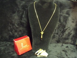 """VINTAGE EMMONS MATCHED 15"""" PENDANT NECKLACE AND CLIP ON EARRINGS SET WIT... - $24.75"""