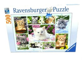 Ravensburger Kitten in a Basket Jigsaw Puzzle 500 Pieces - Complete - $19.75