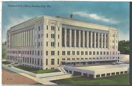 Kansas City Missouri MO Post Office Postcard Linen Colourpicture  - $3.34