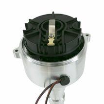 Chevy SB/BB V8 Low-Profile Pro Series Pro Billet Distributor with Crab Cap Black image 3