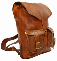 15 inches Genuine Leather Vintage Satchel  Messenger Laptop Picnic Bag 24 - $72.18 CAD
