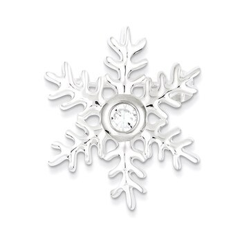 Primary image for Lex & Lu Sterling Silver CZ Snowflake Pin and Pendant