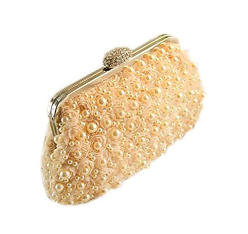 Cute Coral Beads Party Clutch Applique Flower Clutch for Women