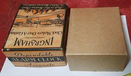 Vintage Ingraham Utility Alarm Clock Paper Box Container image 4