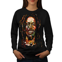 Bob Marley Famous Rasta Jumper Hero Smile Women Sweatshirt - $18.99