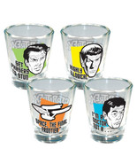 Star Trek The Original Series Quotes Set of 4 Shot Glasses, NEW UNUSED - $14.46
