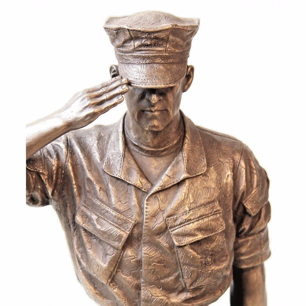 """USMC Trooper Hail and Farewell Bust 8"""" Statue"""