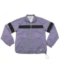 FILA Track Jacket Womens Extra Large Purple Soft Shell Long Sleeve Lined... - $23.74