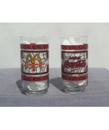 Set of 2 stained glass Coke/Mc Donalds Glases - Canadian Variant - Rare !!! - $35.00