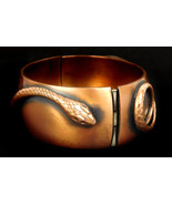 Vintage Whiting Davis Signed Copper Hinged Snake Bracelet - $77.55