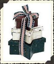 """Boyds Collection - Accessory """"AMERICANA STAR BOXES"""" #654919 - New-  Retired - $23.99"""