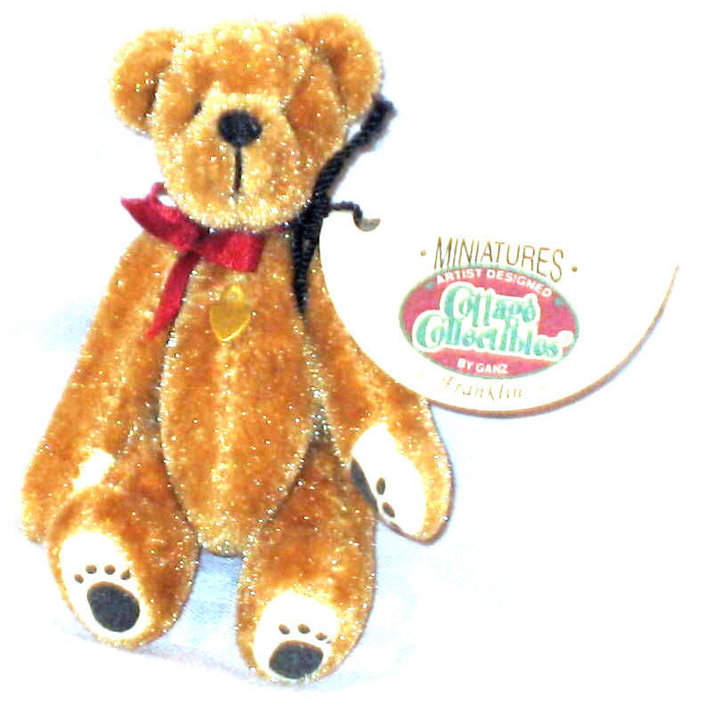 "Primary image for Ganz Cottage Collectibles""FRANKLIN"" #CC7211- 3"" Bear- Artist Linda Kuntz- NWT"