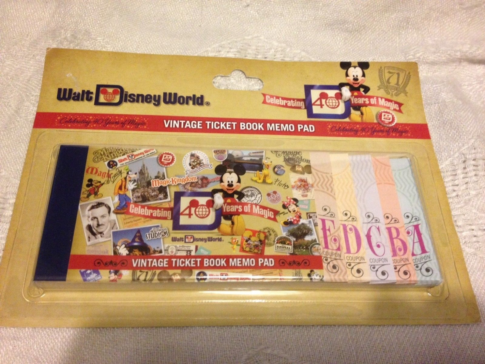 Walt Disney World Vintage Ticket Book Memo Pad NEW 2011
