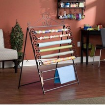 Gift Wrapping Center Paper Organizer Storage Station Easel Rack Craft Di... - $72.49