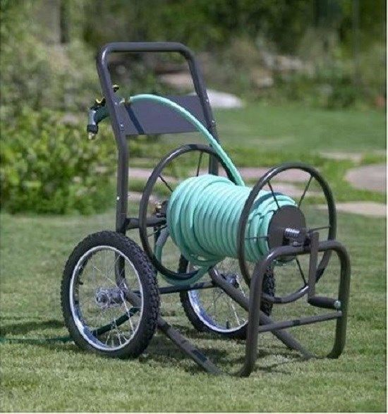 Hose Reel 2 Wheel Garden Hose Cart Yard Watering Industrial Outdoor Storage NEW