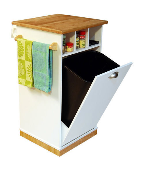 Pantry Tower W Butcher Block Top Cart Kitchen Island
