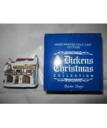 VTG A Dickens Christmas Collection Butcher Shoppe w/box Taiwan handpainted - $19.29