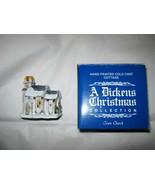 VTG A Dickens Christmas Collection Town Church w/box Taiwan handpainted - $14.84