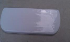 "9 I84 White Toilet Tank Lid, Mancasa 51: 19"" X 8 1/4"", Very Good Condition - $49.66"