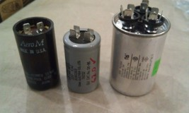8t43 MOTOR START CAPACITORS, 3PCS: 110V/189-227MF/TOK, 220V/53-64MF/62.0... - $26.00