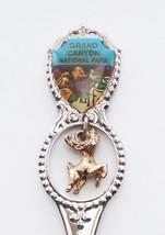 Collector Souvenir Spoon USA Arizona Grand Canyon National Park Deer Charm - $2.99