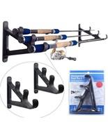Croch 1 pair wall shelf with fishing rod horizontal wall mounted - $67.53