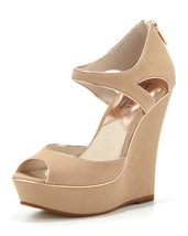 MICHAEL MICHAEL KORS Women's Riley Wedge (Nude/Rose Gold 8.5 M) [Apparel] - $119.99
