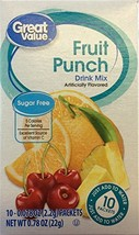Great Value Sugar Free, Low Calorie Fruit Punch Drink Mix Pack of 4 - $14.47