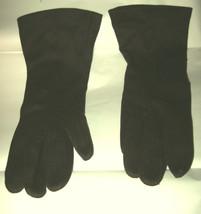 VTG Hansen brown nylon wrist gloves sz Ladies 7 MINT - $19.30