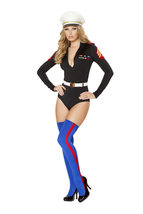 Roma Sexy Marine Mama Military Romper Costume W/WO HAT STOCKINGS S/M M/L... - $70.00+