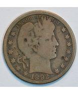 1892 O Barber circulated silver quarter G details - $20.00