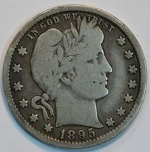 1895 O Barber circulated silver quarter VG details - $27.50