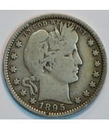 1895 P Barber circulated silver quarter VG details - $25.00