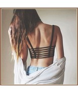 Short Summer Cami Crop Tank Top with Spaghetti Straps and Strappy Open B... - $22.95