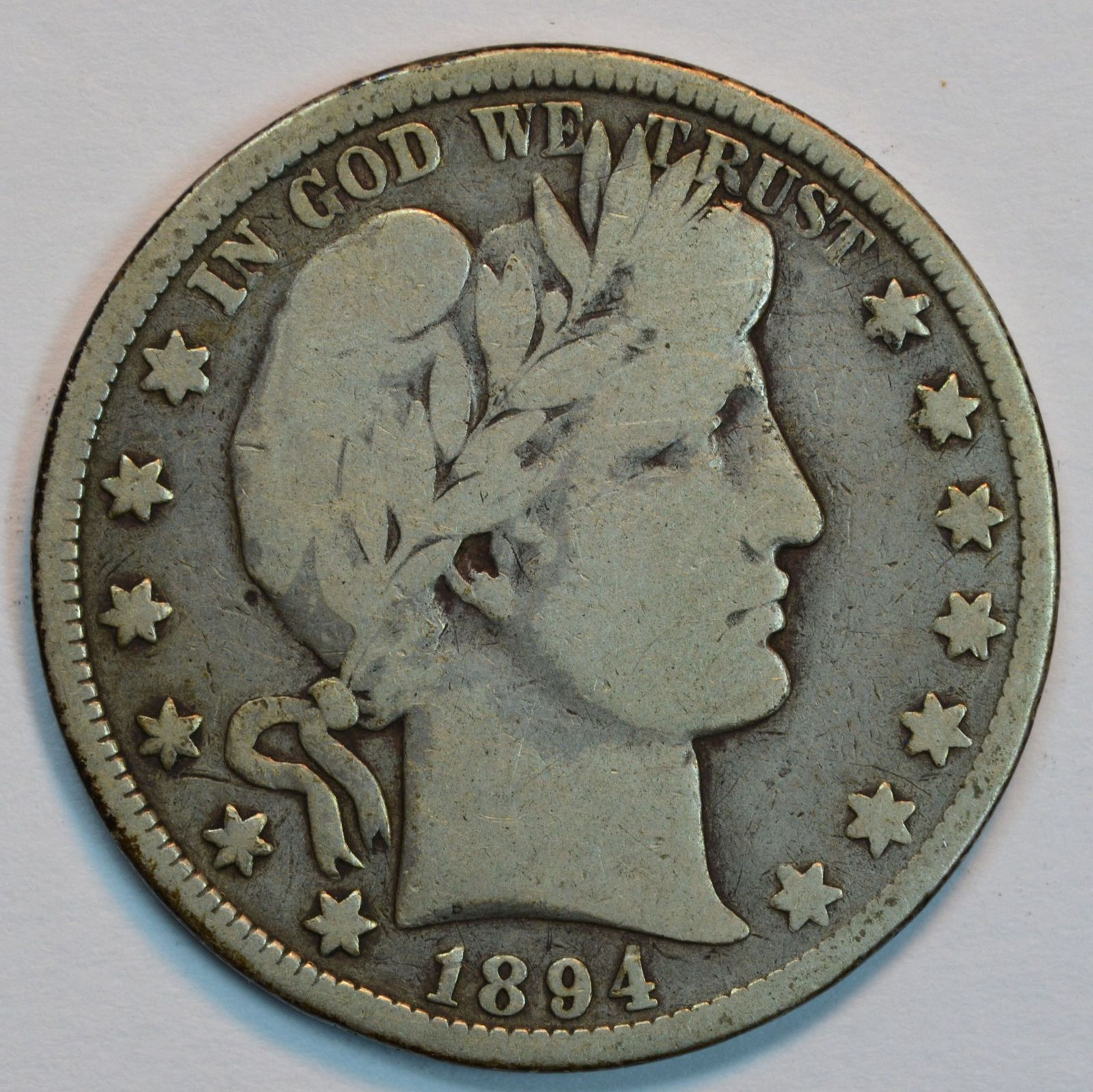 Primary image for 1894 O Barber circulated silver half VG details