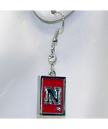 Nebraska Cornhuskers Dangle Square Earrings and Fight Song Musical Scarf... - $24.00