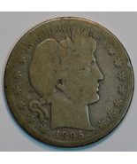 1895 S Barber circulated silver half details - $25.00