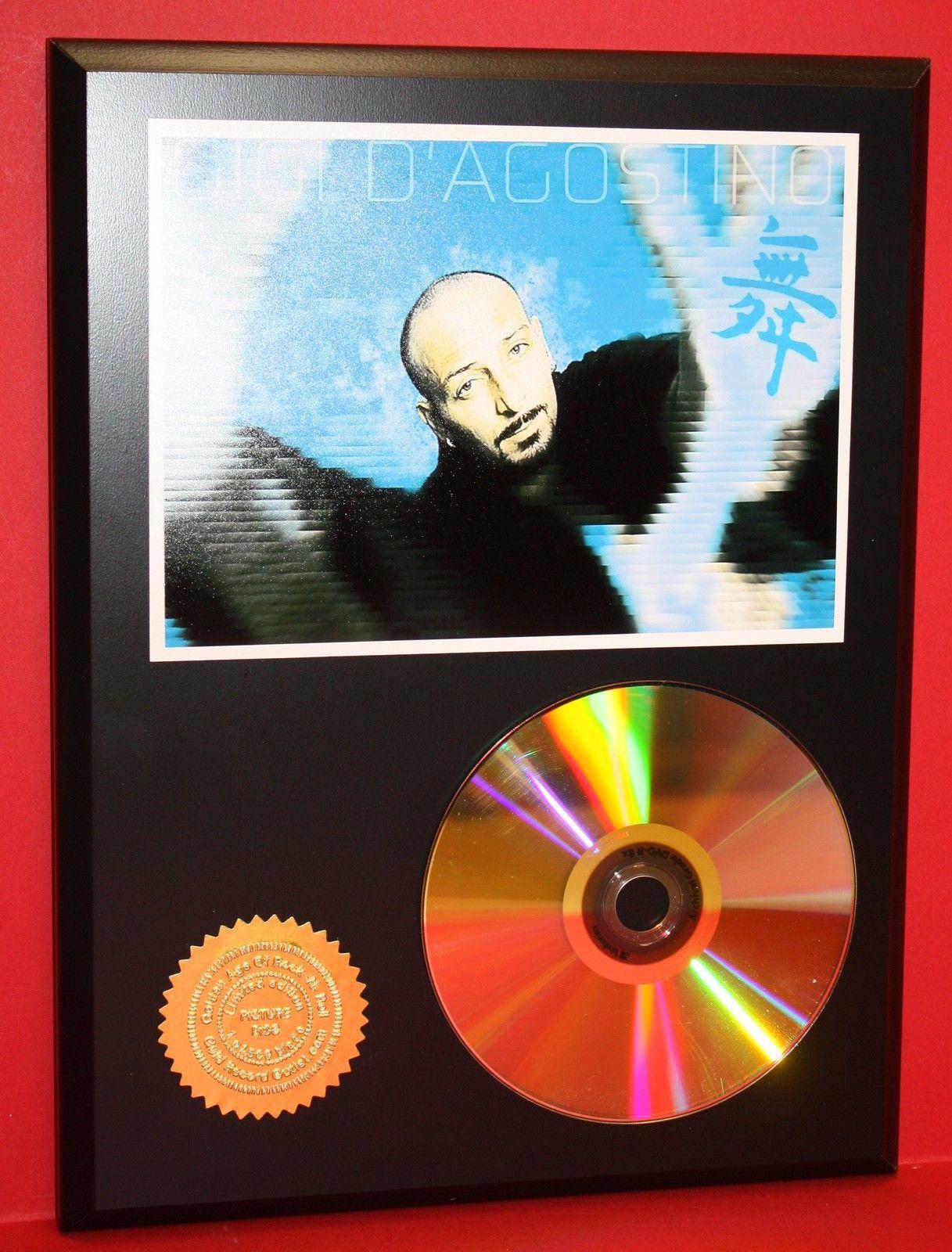gigi d 39 agostino 24kt gold cd disc collectible rare award quality plaque gift dance electronica. Black Bedroom Furniture Sets. Home Design Ideas