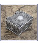 Vintage Tin Metal Small Jewelry Presentation Display Gift Box Velvet Lined - $29.95