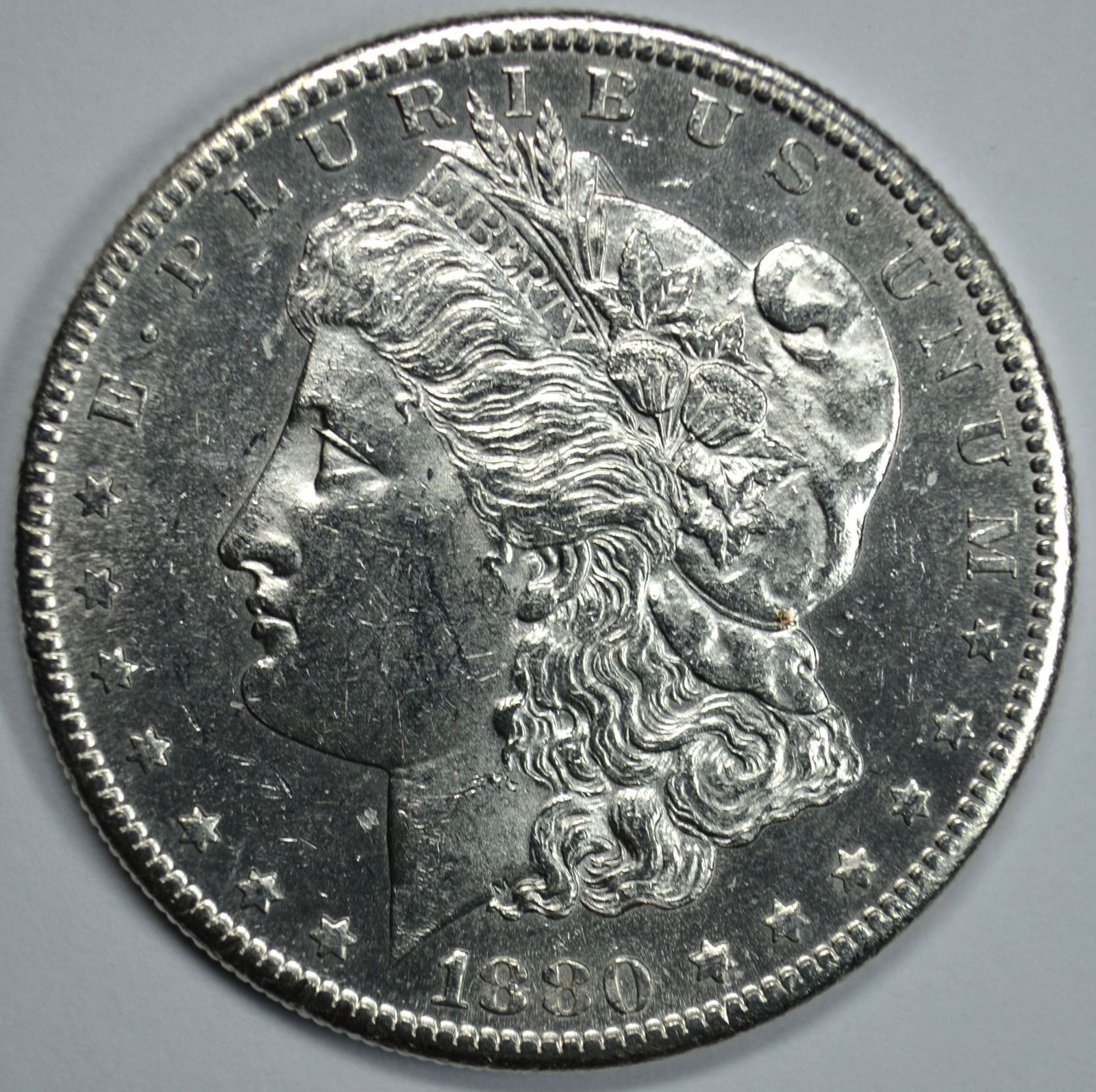 Primary image for 1880 S Morgan silver dollar AU details