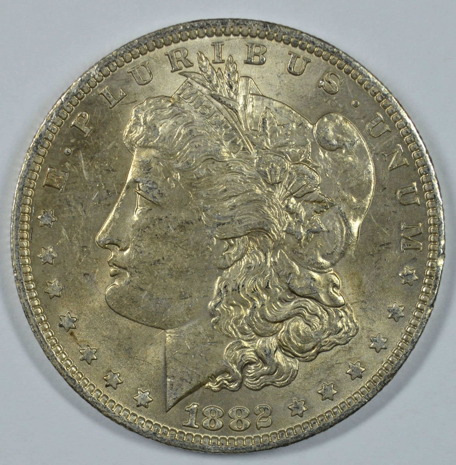 Primary image for 1882 O Morgan silver dollar AU details