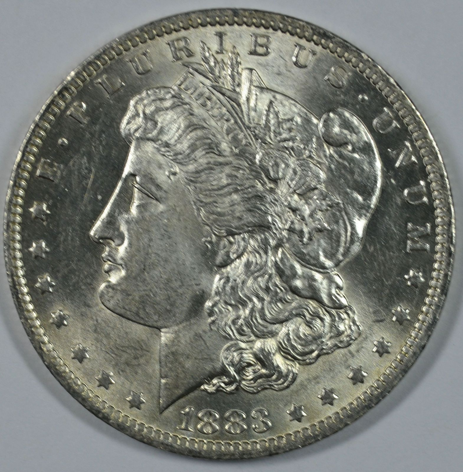 Primary image for 1883 O Morgan silver dollar BU details