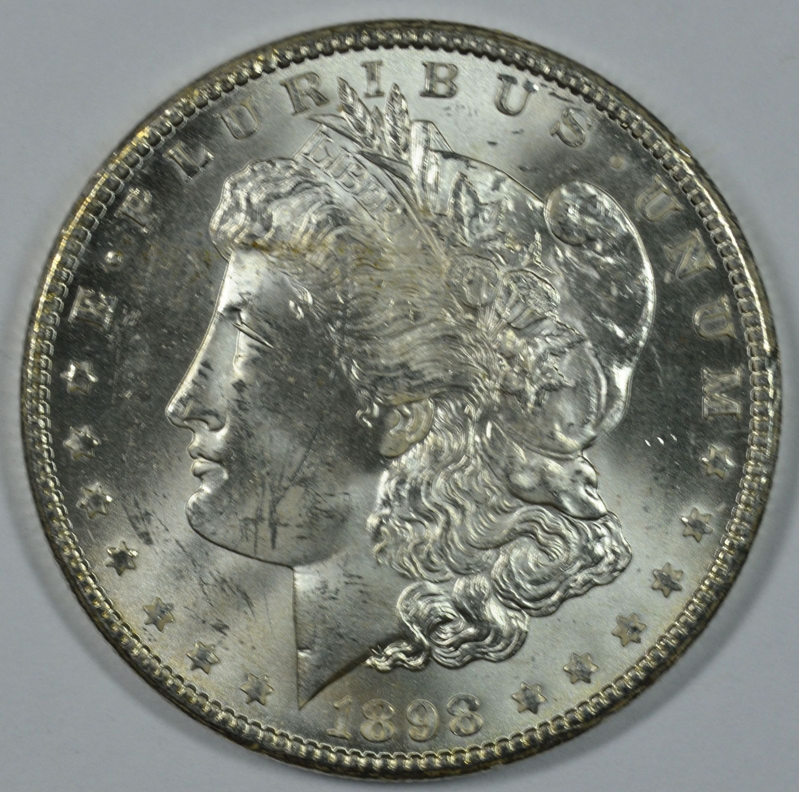 Primary image for 1898 O Morgan silver dollar AU details
