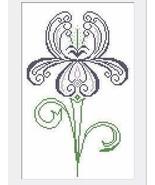 Iris cross stitch chart AAN Alessandra Adelaide Needleworks - $13.50
