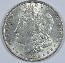 1886 P Morgan silver dollar AU details - $50.00